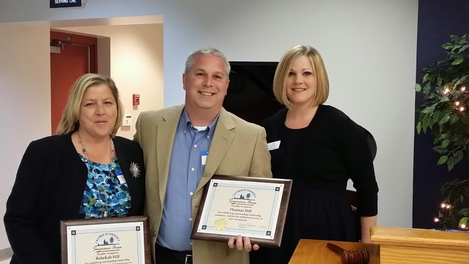 L to R:  Rebekah Hill and Thomas Hill - Computer Depot, 2013 President Rachael Campbell - TN Connect Credit Union